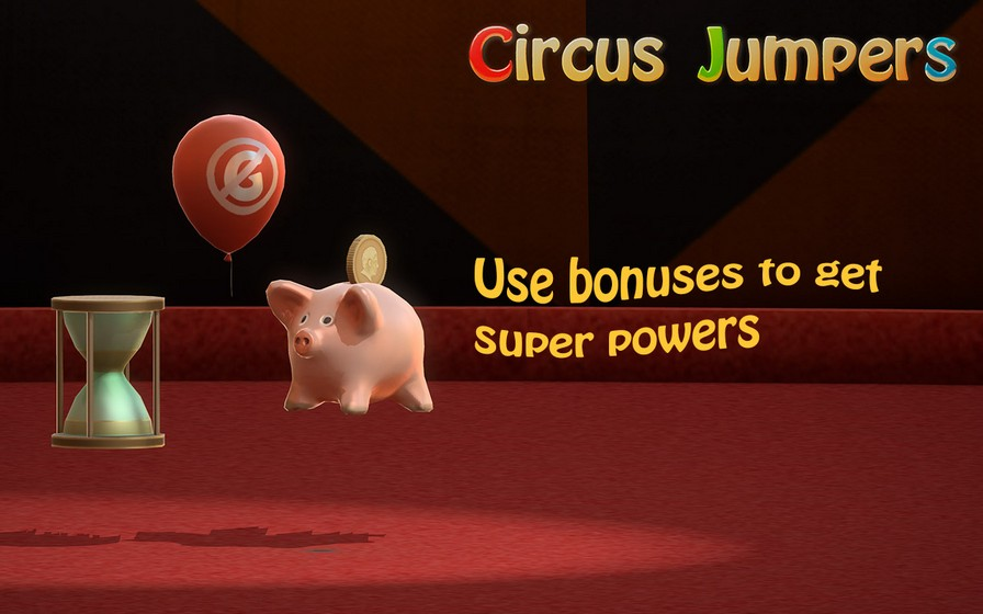 Use bonuses to get super powers: antigravity, slow-motion, coin multiplier